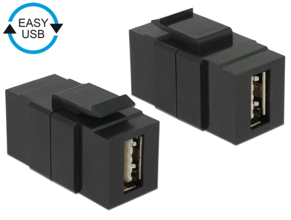 Keystone module EASY-USB 2.0 A female > EASY-USB 2.0 A female black