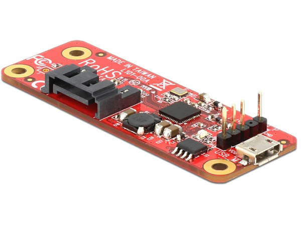 Delock Converter Raspberry Pi USB Micro-B female / USB Pin Header > SATA 7 Pin